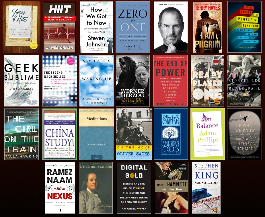 Books I read in 2015 and my Great Unbalancing
